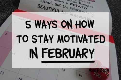 Calendar Photo with Title Overlay '5 Ways on How to Stay Motivated in February;