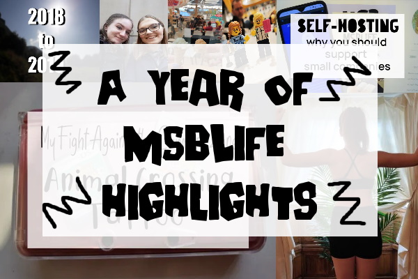A Year of MSBLife highlights caption with thumbnail underneath