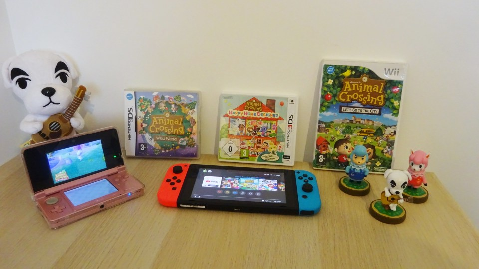 Animal Crossing Games and Merch showing my Animal Crossing Journey