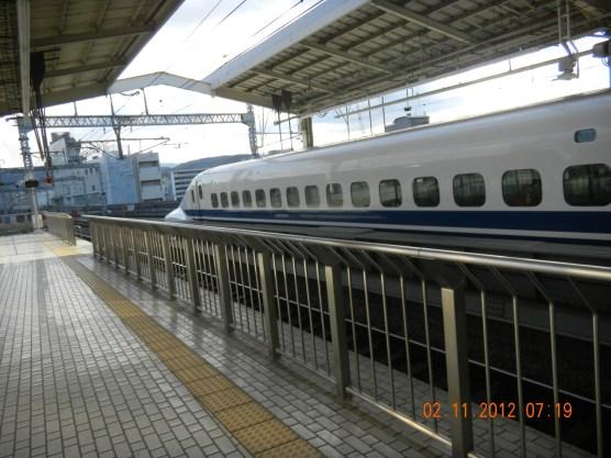 The bullet train! Yeay!!