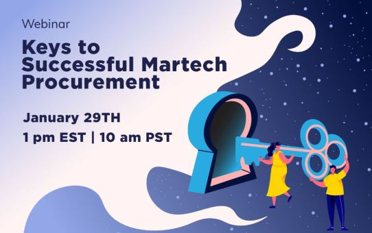 Martech WEBINAR! Keys to a Successful Martech Procurement