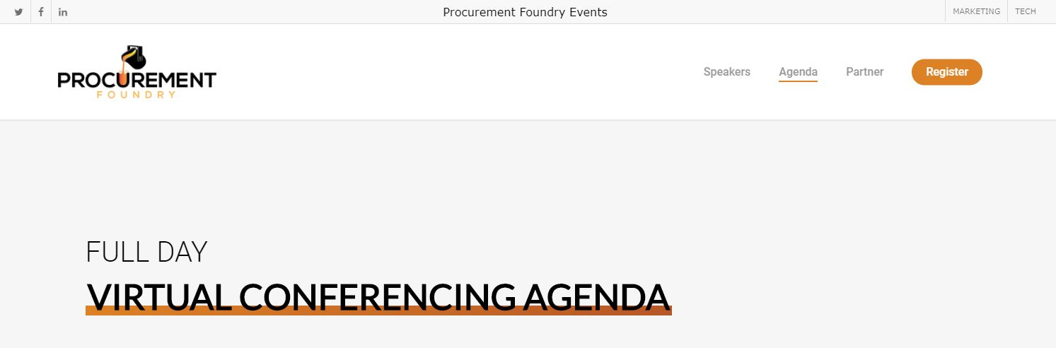 I'm Speaking! An Epic Event: Forge - Marketing Virtual Conference by Procurement Foundry - 10.29.20. Don't Miss out! 1