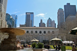 My favorite park in the city, Bryant Park.