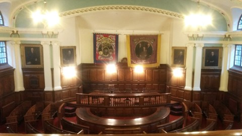 The 300 seat 'pitmen's parliament' at the Durham Miners Union