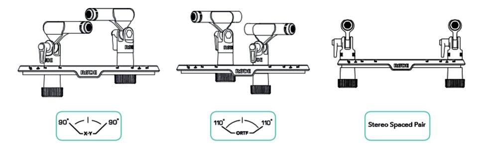 Rode SB20 Stereo Bar Diagram