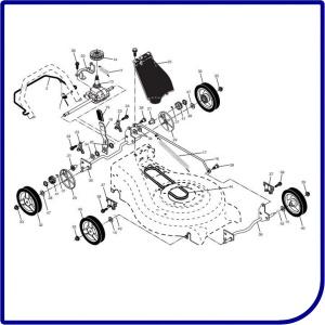 Колеса, трансмиссия, привод газонокосилки HUSQVARNA LC 153S