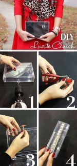 How to make DIY Transparent Clutch.