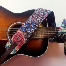 flower child custom comfort guitar strap