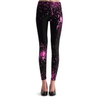 Splatter legging black pink