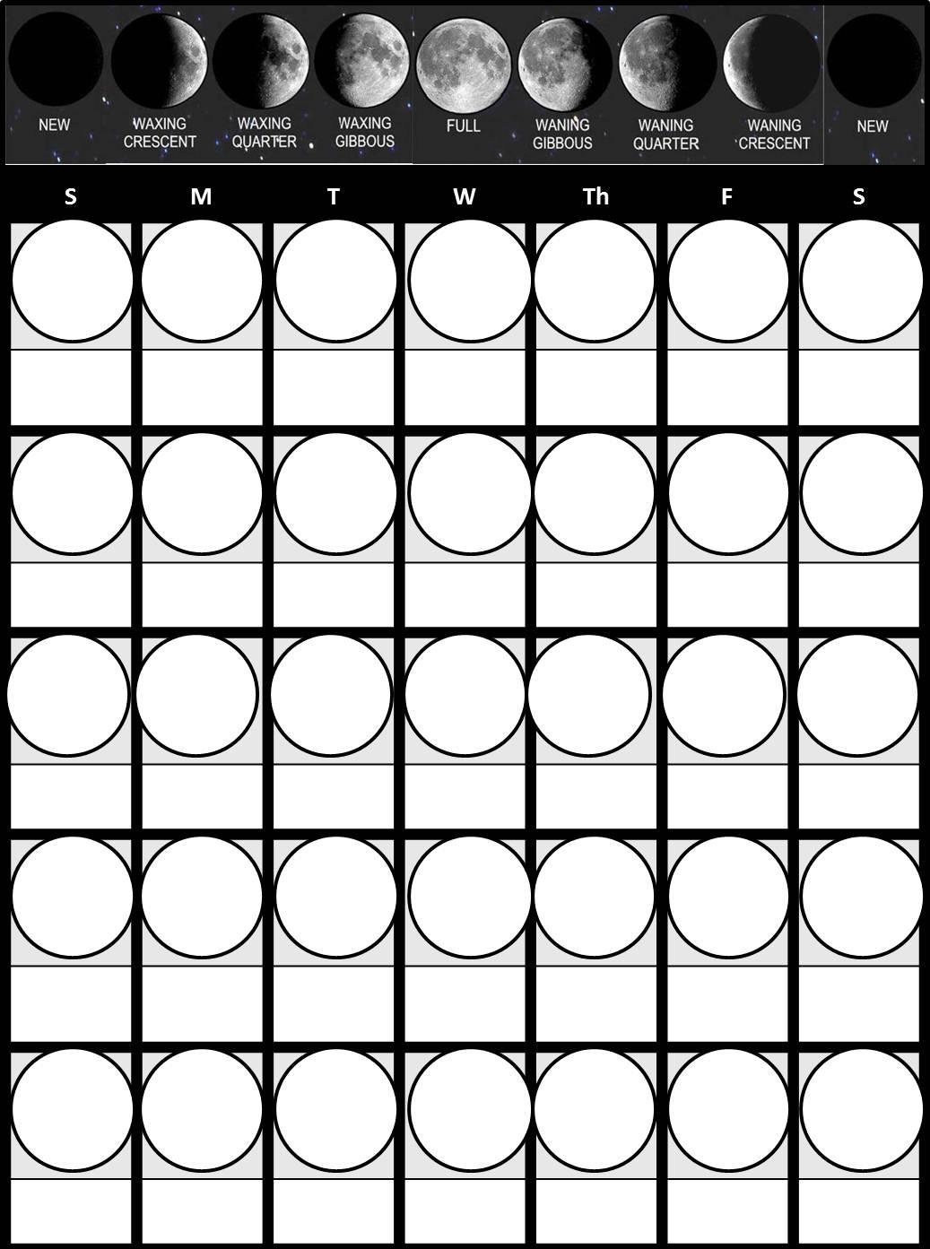 Worksheet Moon Observation Printable