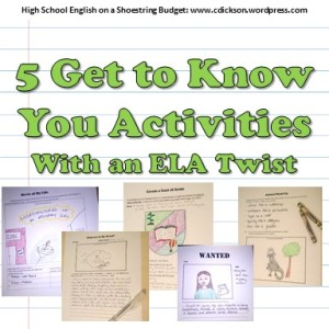5 Back to School Activities– with an ELA Twist | Ms