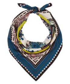 Blue Abstract Square Paisley Scarf. Etro. 2013.