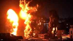 عشرات الغارات الإسرائيلية على قطاع غزة.. وتدمير أنفاق لحماس