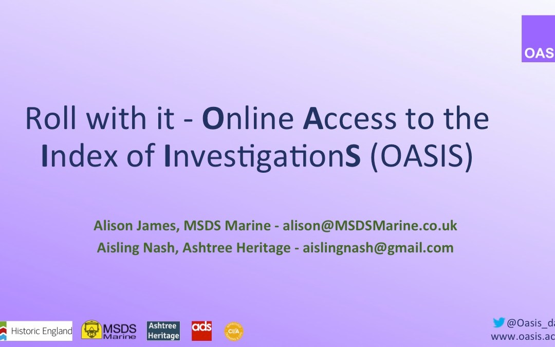 OASIS V at the Society for Museum Archaeology Twitter Conference