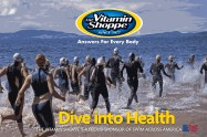 Vitamin Shoppe Dive into Health Event Banner at Start line