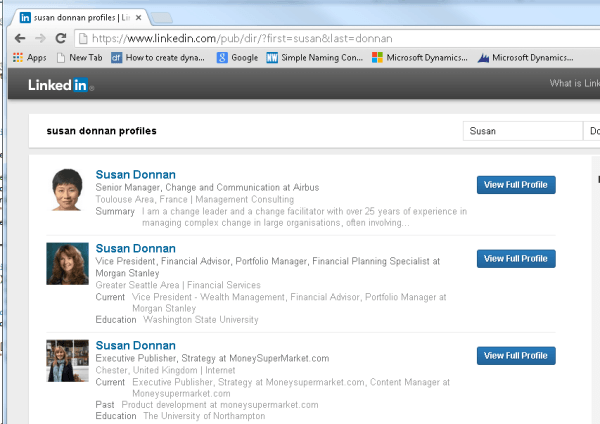 LinkedIn Directory Search