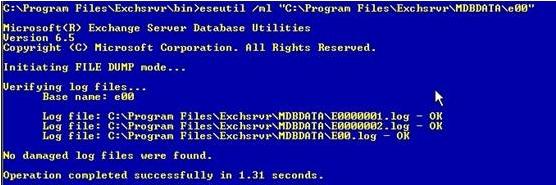 Database in Dirty Shutdown