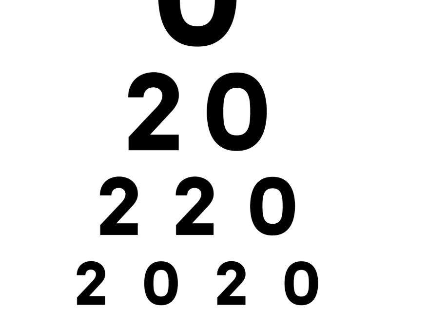 eye chart 2020