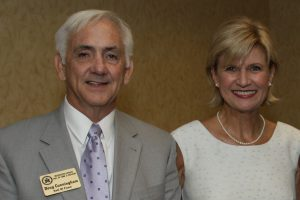 Doug Cunningham and wife, Allen, at his induction.