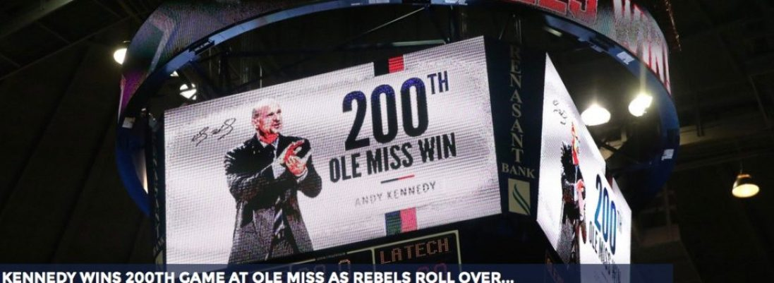 Andy Kennedy got his 200th Ole Miss victory Tuesday night.
