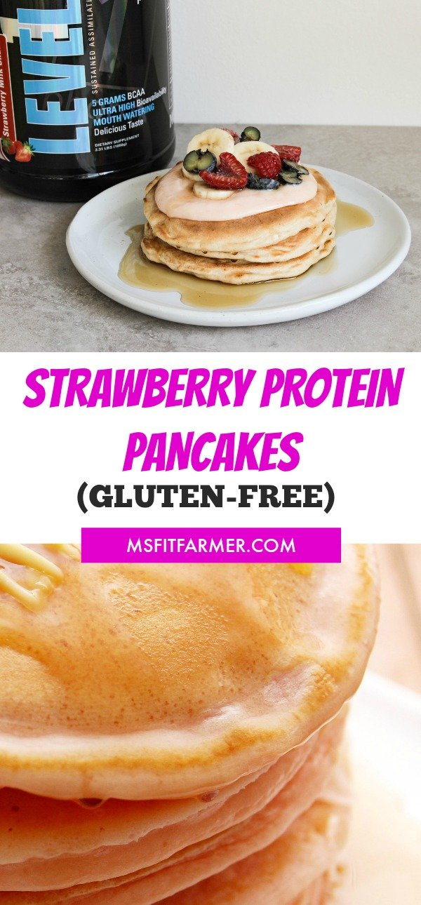 Quick and Easy High-Protein Strawberry Pancake Recipe | Healthy Breakfast foods | More Weight Loss and Fitness at https://msfitfarmer.com