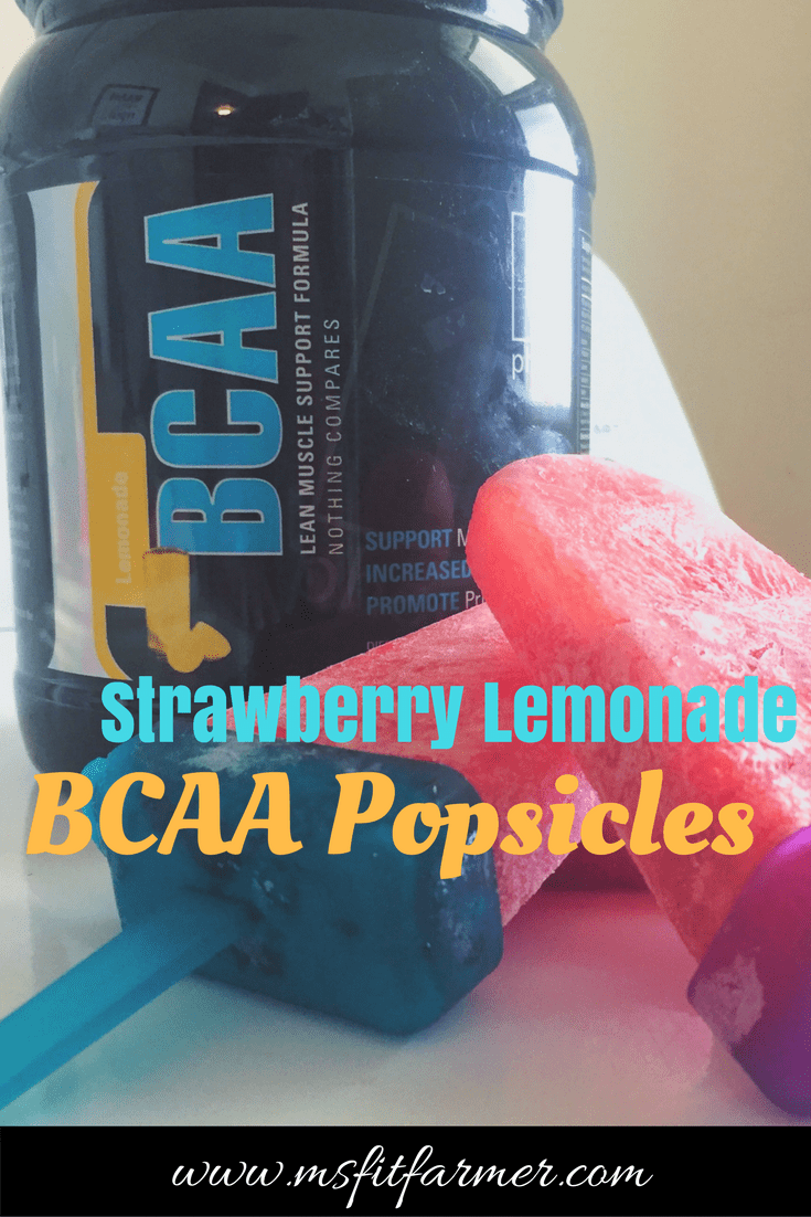 BCAA Strawberry Lemonade Popsicle Recipe | Healthy, Weight Loss & Fitness Tips | More at https://msfitfarmer.com