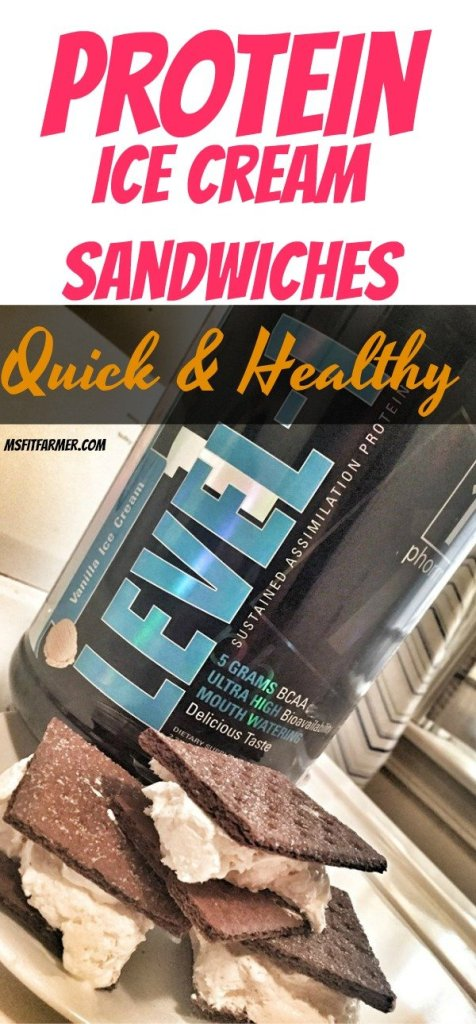 Protein Ice Cream Sandwiches | Healthy, Protein Dessert | Lite Ice Cream Sandwich Dessert | More Health & Fitness at https://msfitfarmer.com