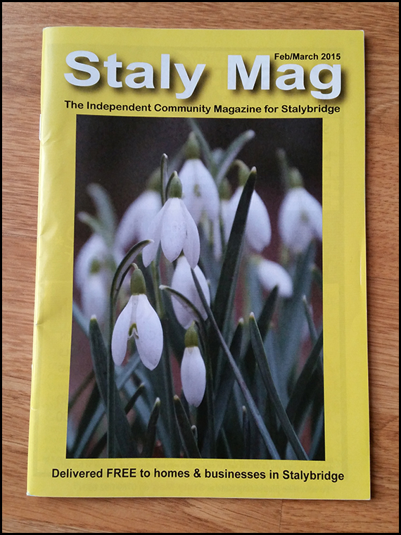 The 'Staly Mag' is a locally produced community magazine.