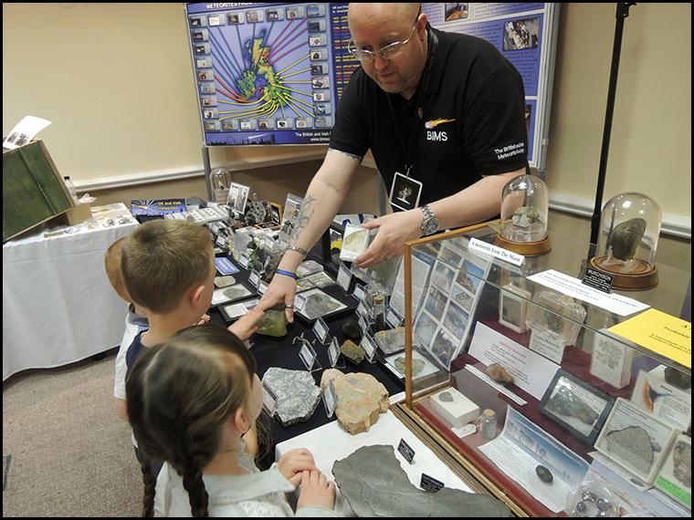 Children love space rocks :-)