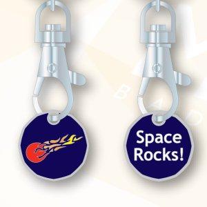 Msg meteorites keyring trolley token 1