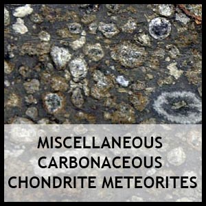Miscellaneous carbonaceous chondrite meteorites