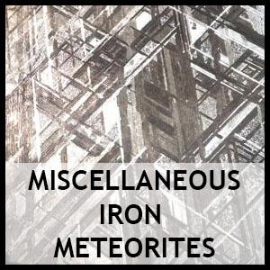 Miscellaneous iron meteorites