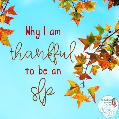 Thanksgiving as an SLP at the SNF