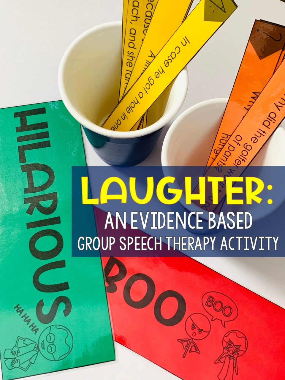 Laughter is an evidenced based group speech therapy activity