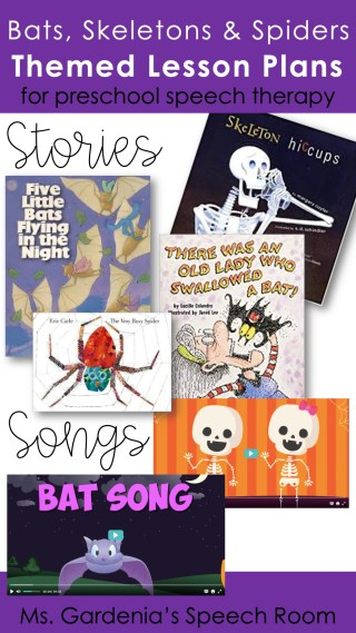 Lesson plans for preschool speech therapy halloween