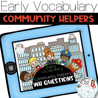 preschool lesson plans for speech therapy community helpers