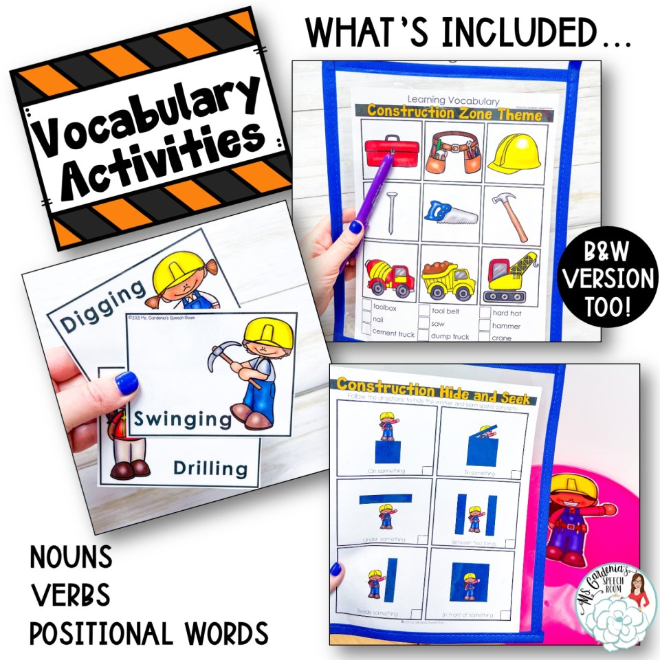 activities for developing vocabulary