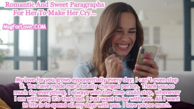 Sweet Paragraphs For Her