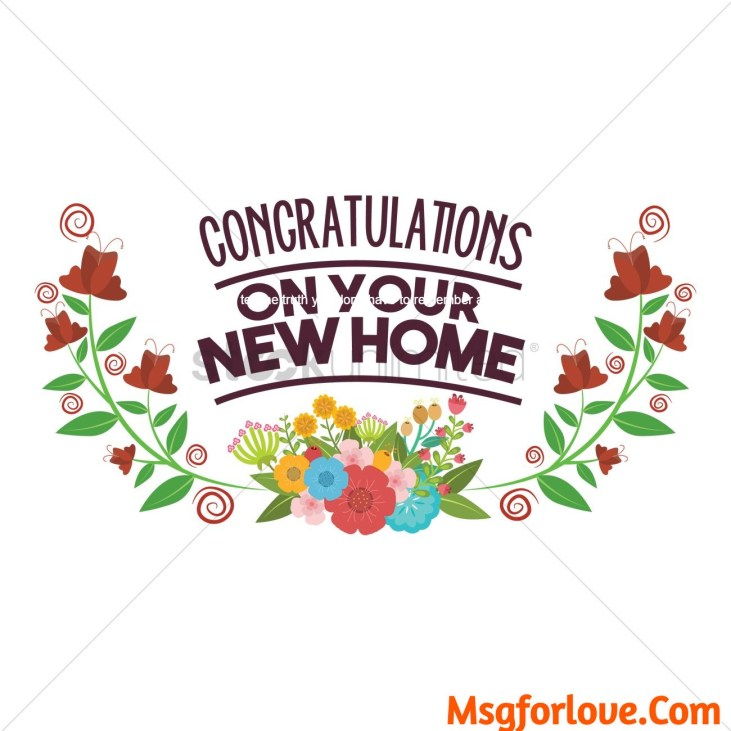 congratulations on your new home