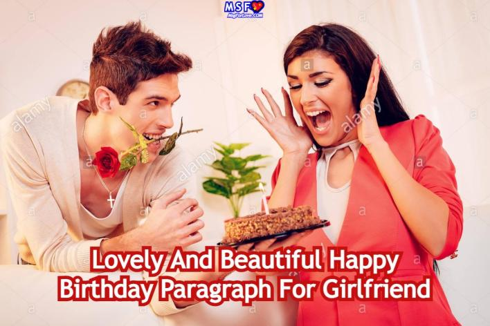 Birthday Paragraph For Girlfriend
