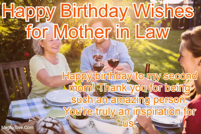 Birthday Wishes for Mother in Law