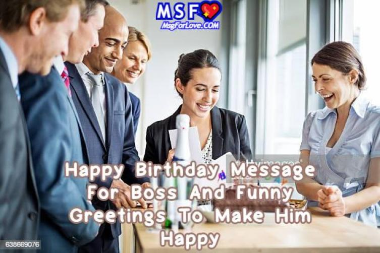 Happy Birthday Message For Boss