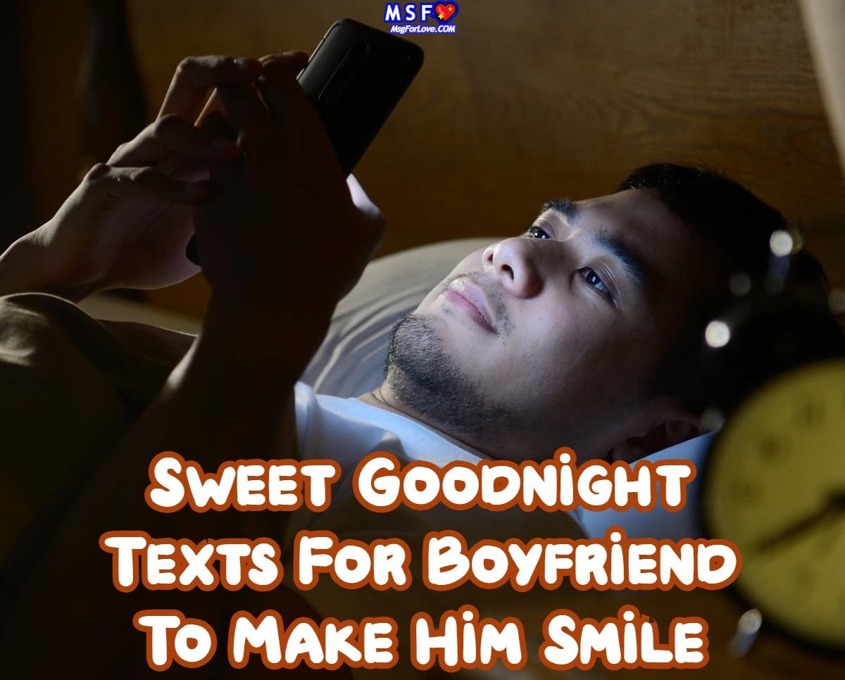 Goodnight Texts For him