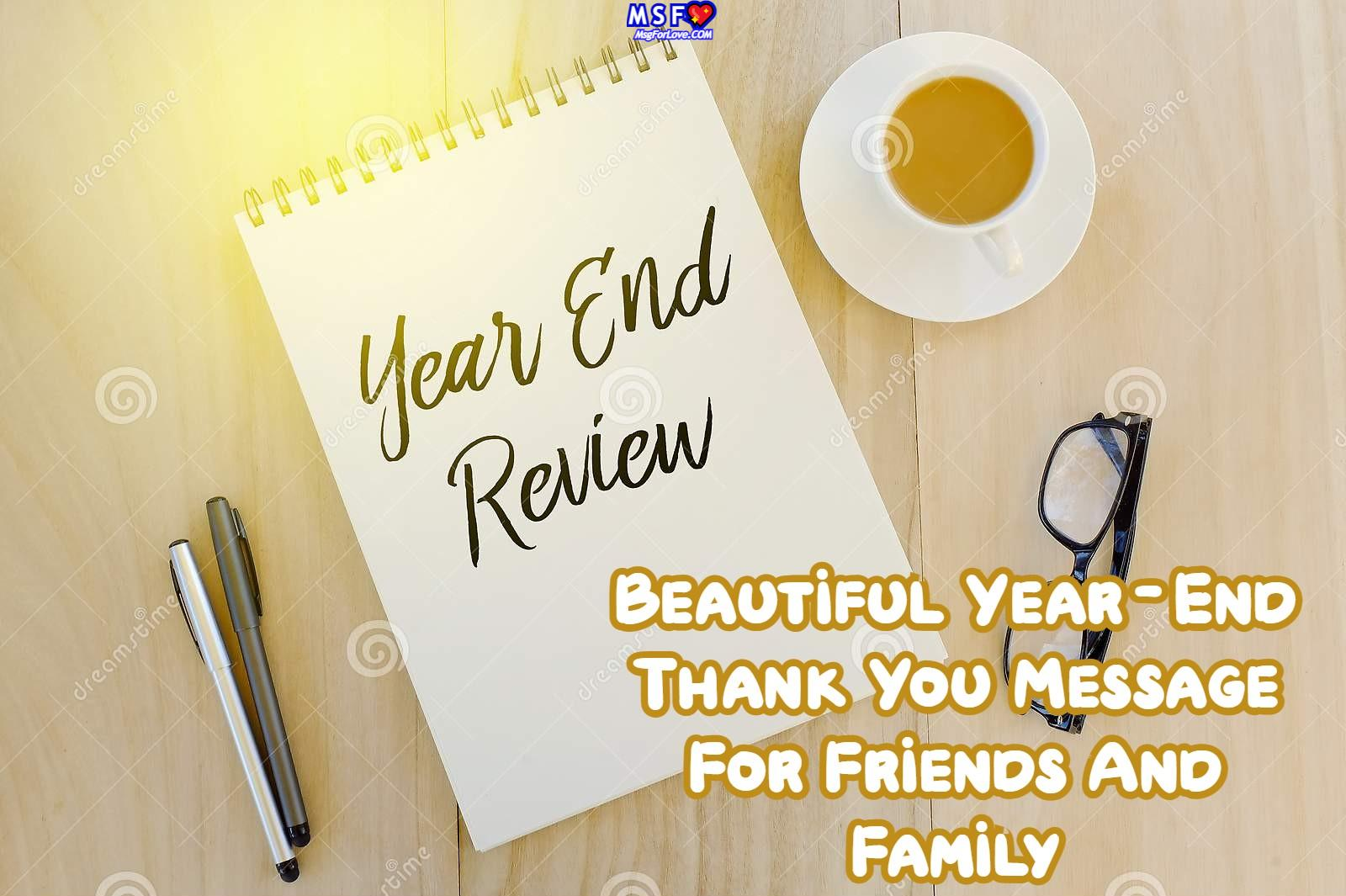 Year-End Thank You Message