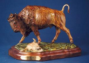 Remnant of the Past - Bill Nebeker Western Bronze Wild Life Sculpture at Mountain Spirit Gallery in Prescott, Arizona