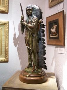 Cheyenne Splendor - Kliewer Bronze Western Native American Sculpture at Mountain Spirit Gallery in Prescott, Arizona
