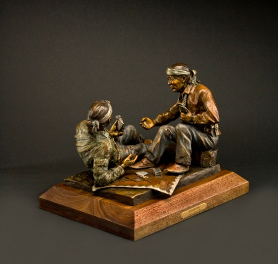 Navajo Tens - Kliewer Western Bronze Sculpture at Mountain Spirit Gallery in Prescott, Arizona