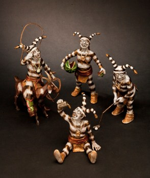 Mischievous Ones -Kliewer Bronze Kachina Sculpture at Mountain Spirit Gallery in Prescott, Arizona