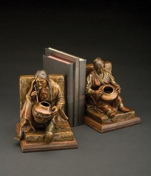 Gifted Hands - Kliewer Woman Bronze Western and Native American Sculpture at Mountain Spirit Gallery in Prescott, Arizona