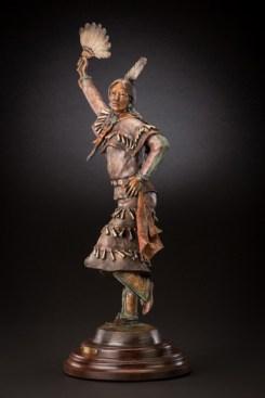 Healing Dress Dancer - Kliewer Native American Bronze Cow Girl Up Artist Susan Kliewer at Mountain Spirit Gallery in Prescott, Arizona